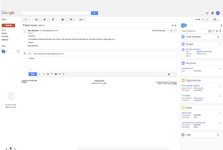 Salesforce for Gmail