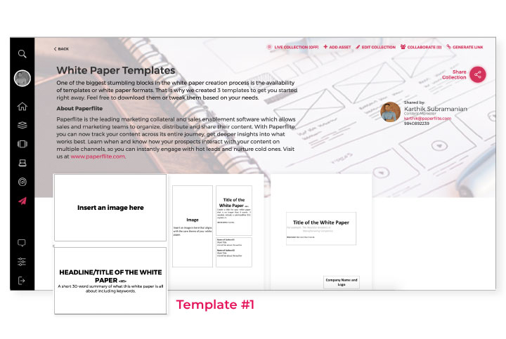 A collection of whitepaper templates by Paperflite
