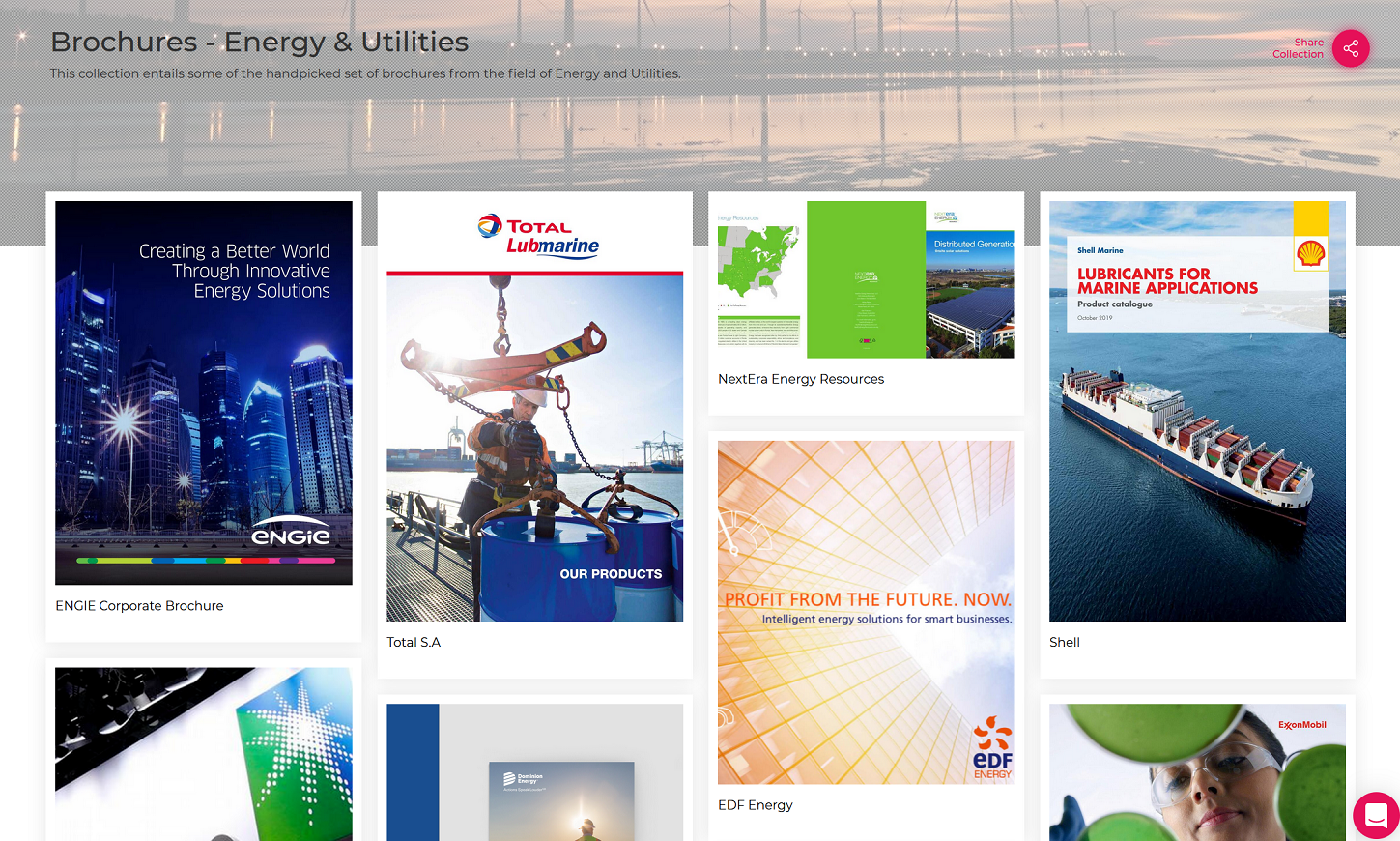 Brochure - Energy & Utilities - Cover Image