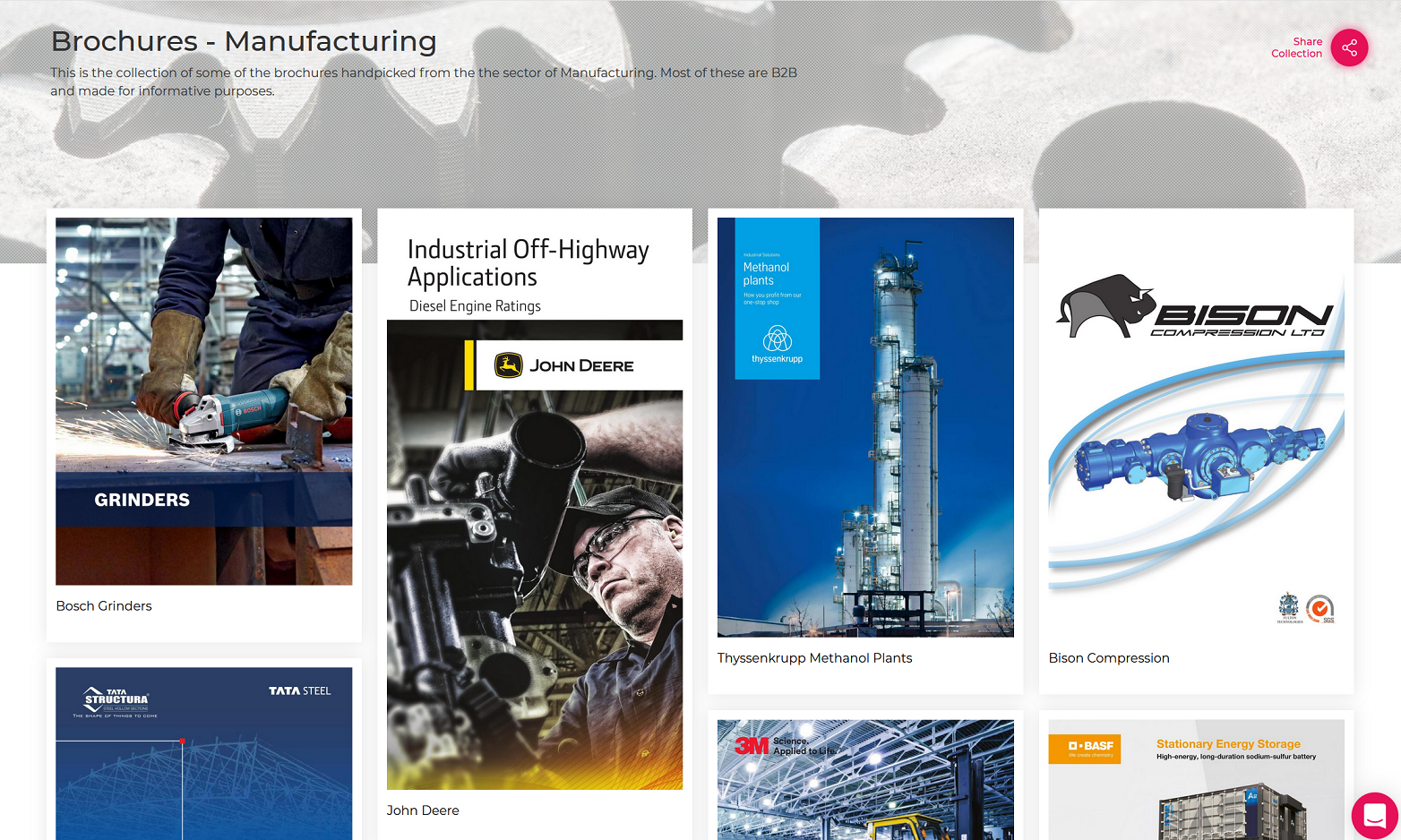 Brochures-Manufacturing Sector