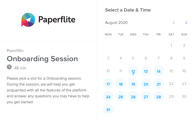 calendly_paperflite_sign up_book slot_say hello