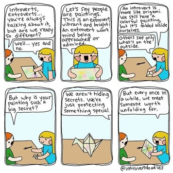 Comic on Origami_virtual team building activities_paperflite
