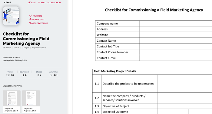 Field Marketing Agency Checklist | Paperflite
