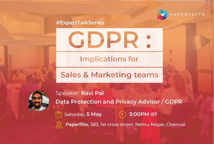 GDPR is here. As customers are increasingly wary of how their data is being used, Sales & Marketing teams need to figure newer ways to connect and manage prospect engagement without breaking the law.