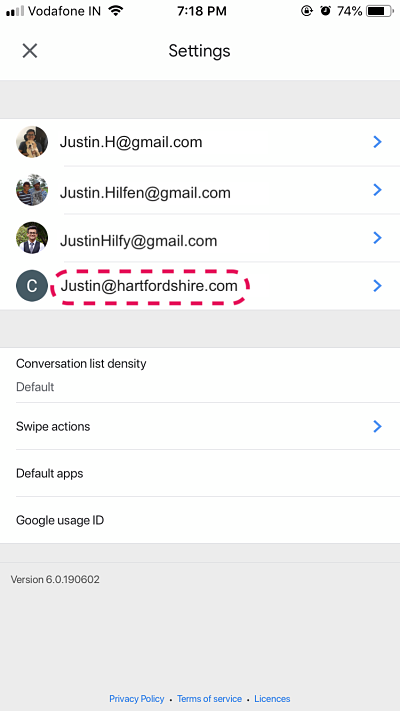 How to add Gmail Signature _ Paperflite iOS _ Choosing users