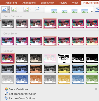 How to make a picture transparent in PowerPoint | Paperflite | Selecting Color Options