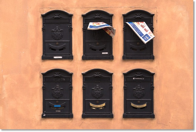 Leaflets in mailboxes