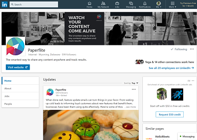 LinkedIN - Paperflite integrated marketing communication