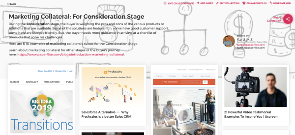 Marketing Collateral Consideration Stage | Paperflite
