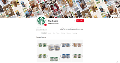 Pinterest Starbucks integrated marketing communication
