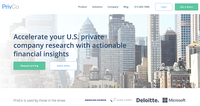 Use PrivCo to gather competitive intelligence data on deal history, key contacts, and ownership that are notoriously difficult to obtain online.