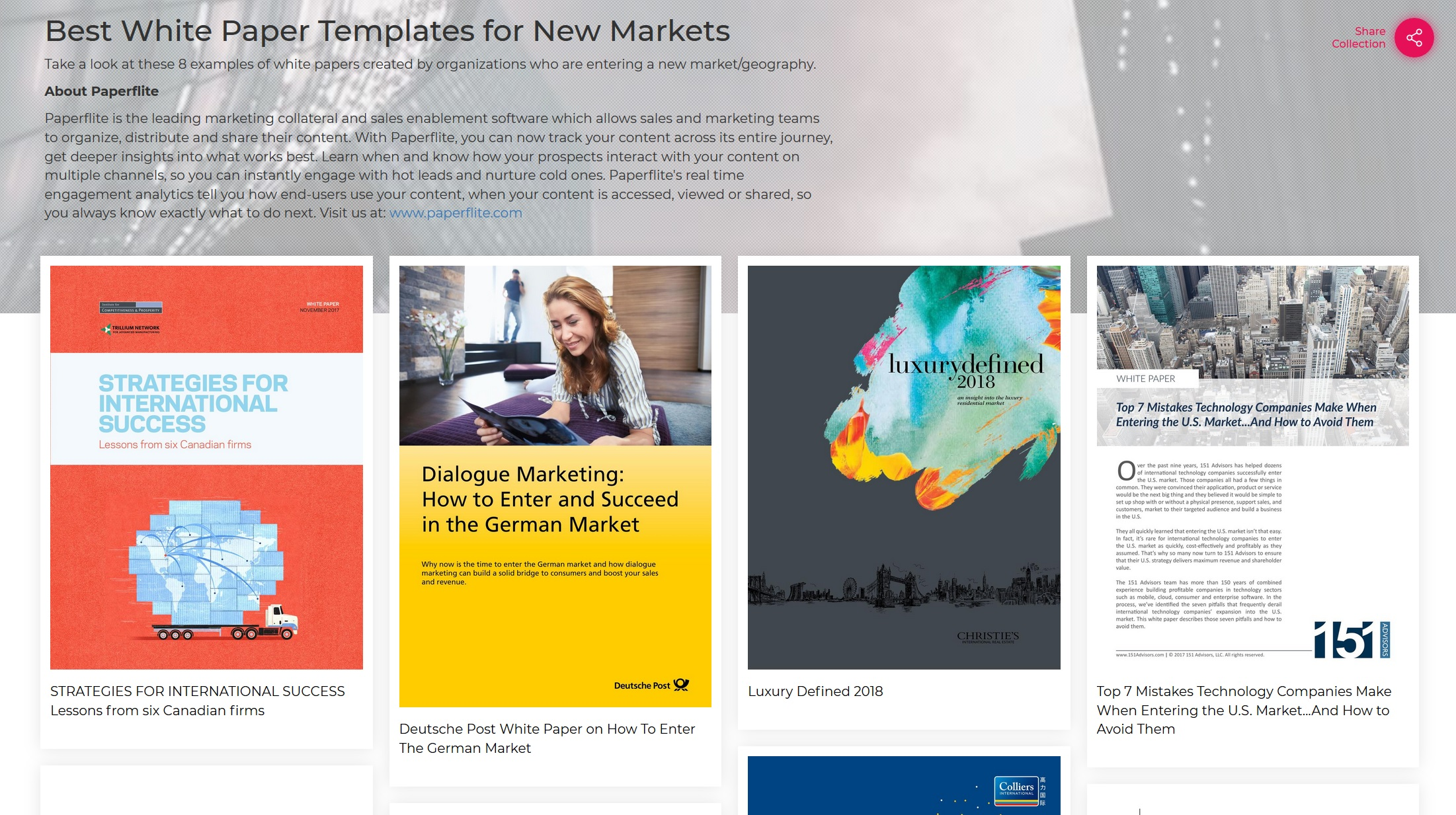 THE BEST WHITE PAPER EXAMPLES FOR NEW MARKETS