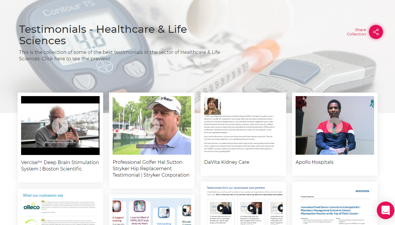 Testimonials-Healthcare & Life Sciences Sector