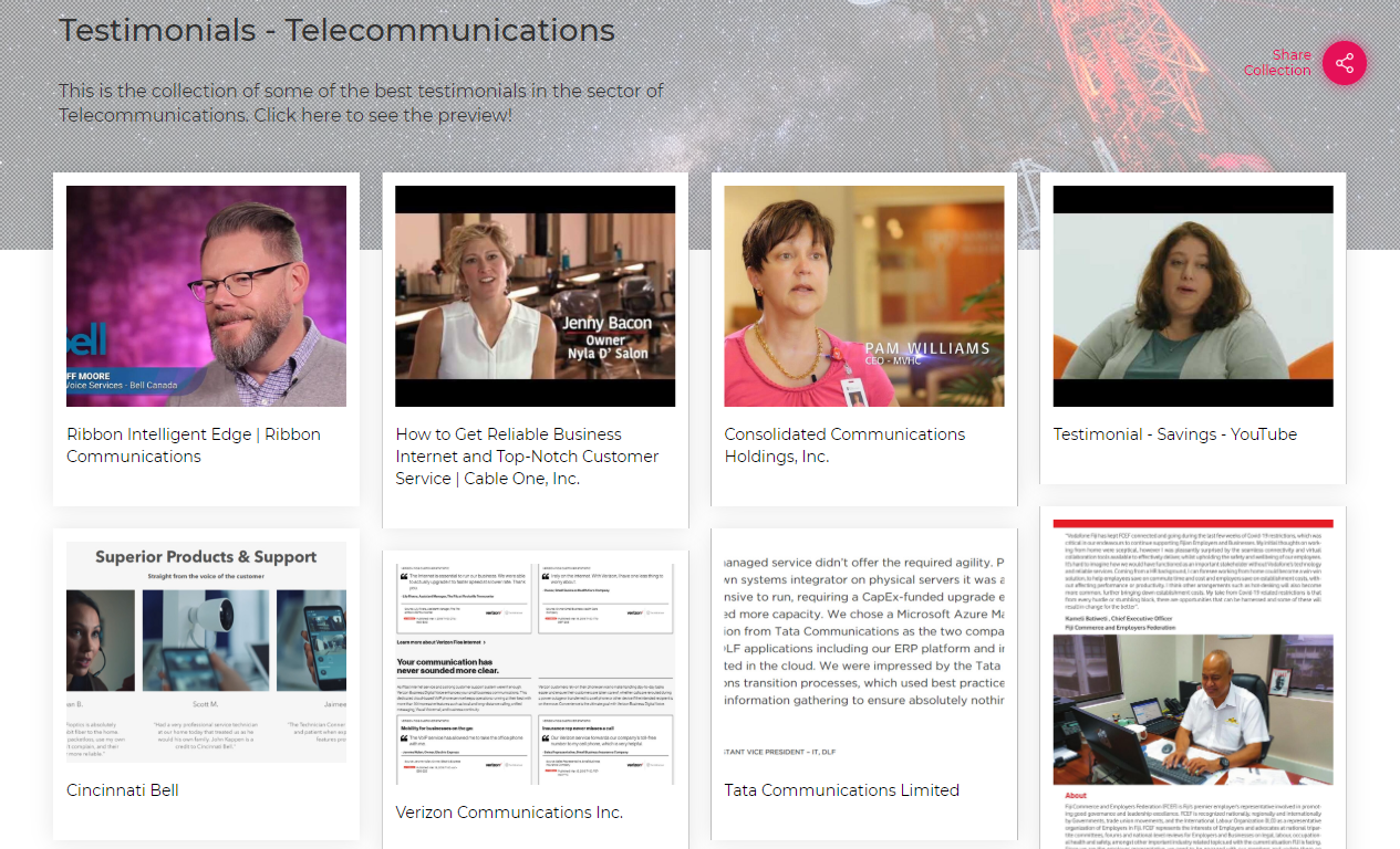 Testimonials-Telecommunications Sector