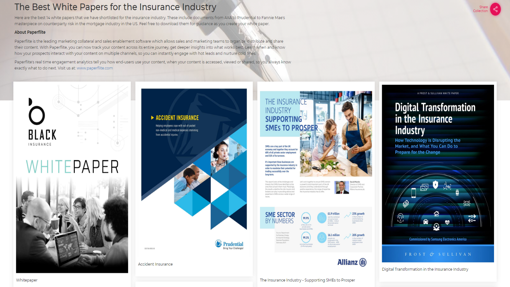 The Best White Papers for the Insurance Industry