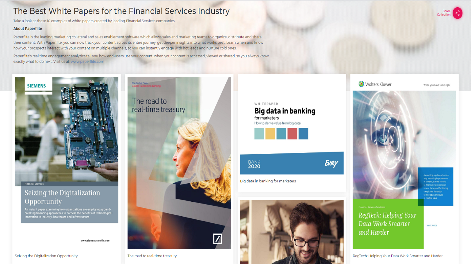 The Best White Papers for the Financial Services Industry