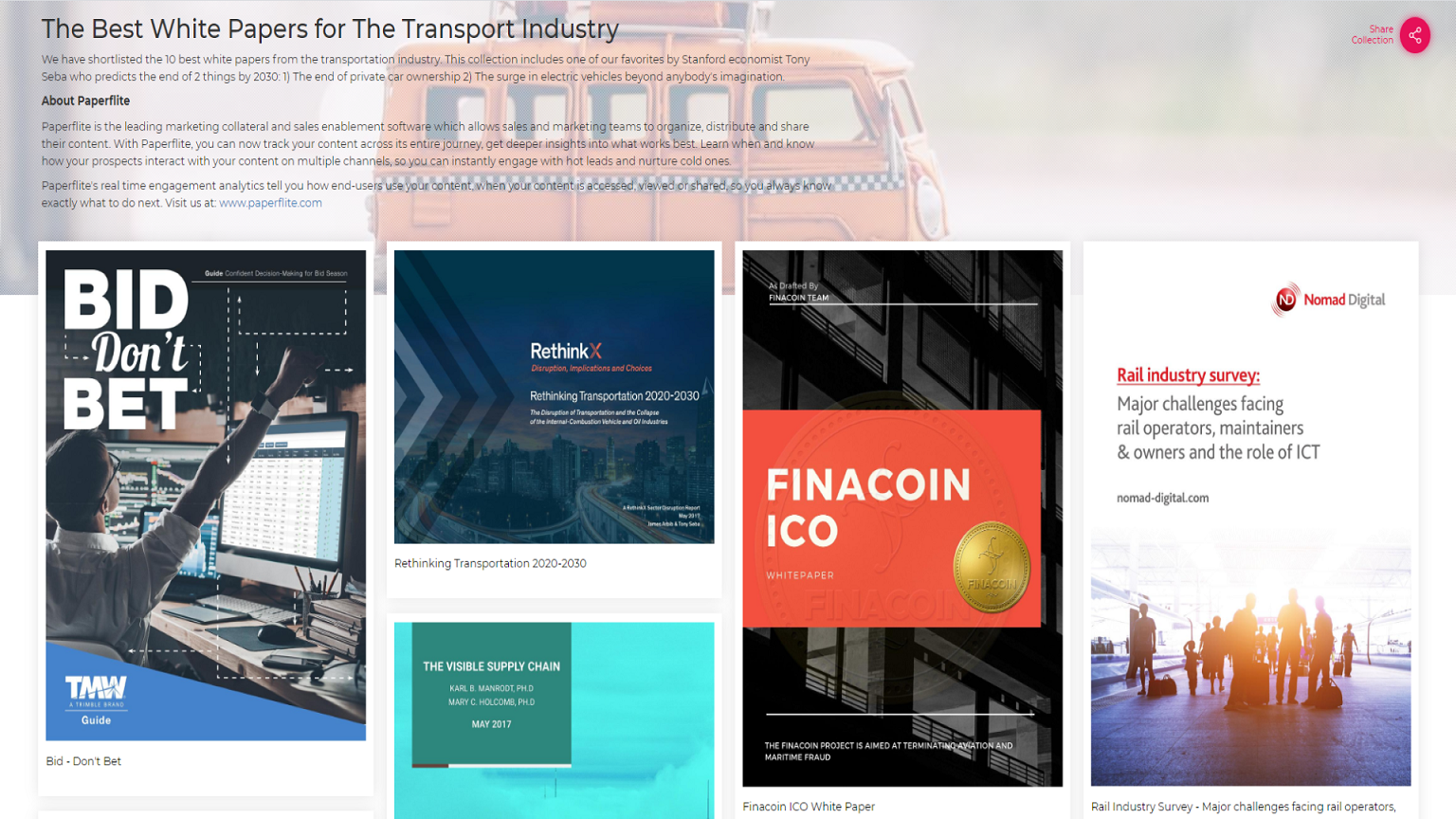 The Best White Papers for the Transport Industry