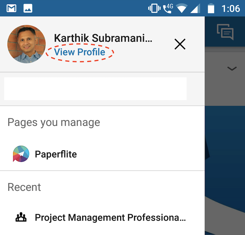 What is my LinkedIn URL? | Paperflite | Finding LinkedIn URL in Mobile App