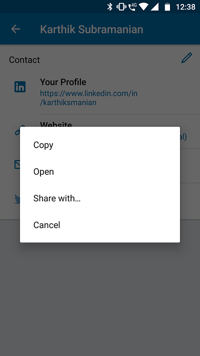 What is my LinkedIn URL? | Paperflite | Sharing LinkedIn URL in Mobile App