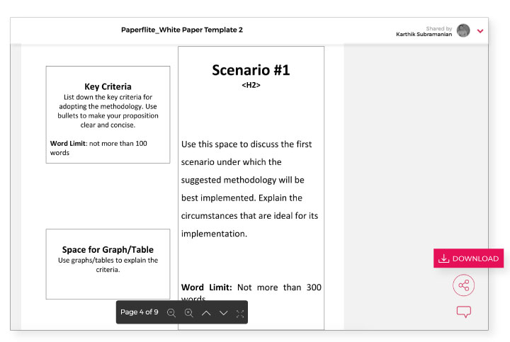 White paper format for download by Paperflite
